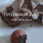 Persimmon Bars with Citrus Glaze