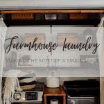 Farmhouse Laundry Room: How I Joanna Gaines-ed My Small Space