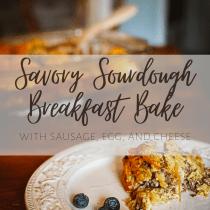savory sourdough breakfast