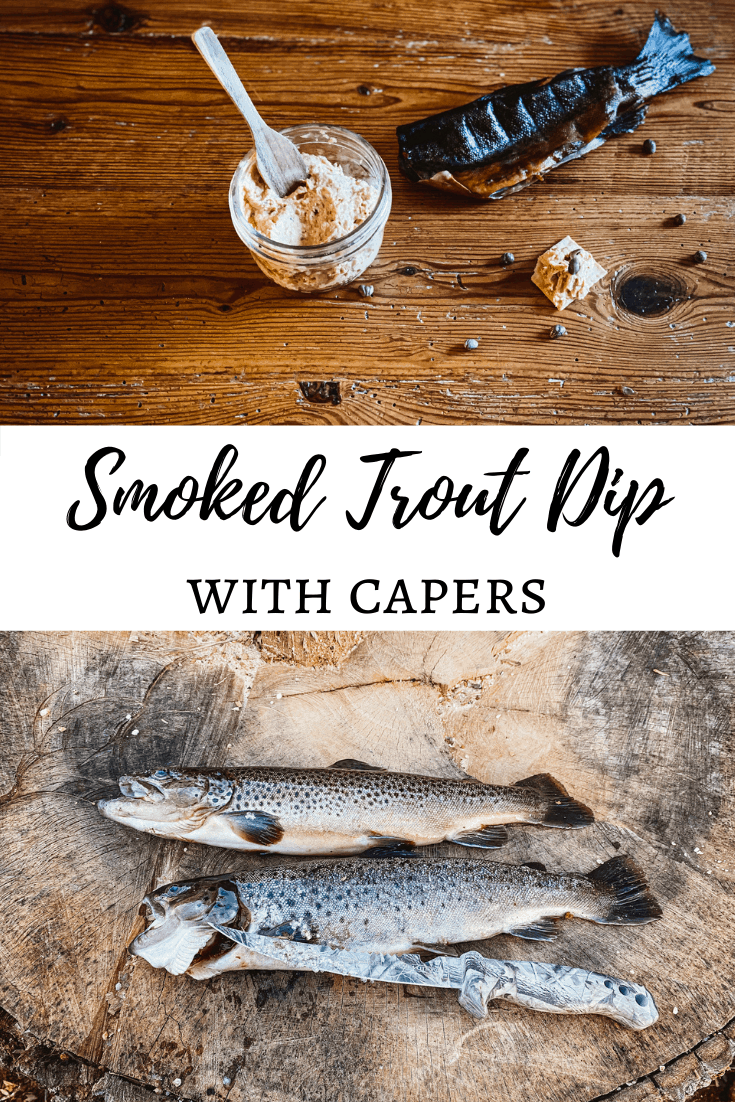 smoked trout and dip Pinterest image